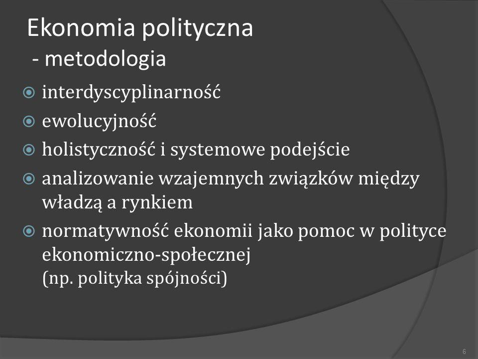 Ekonomia polityczna - metodologia