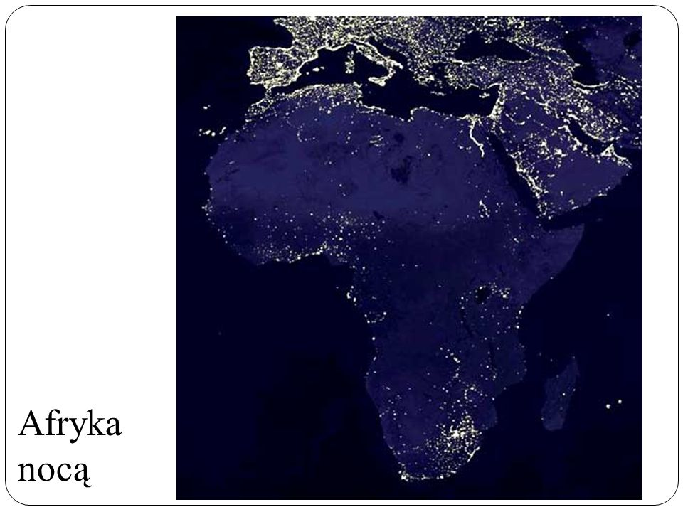Afryka nocą