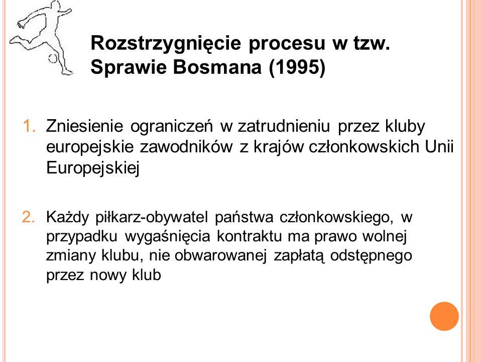 Rozstrzygnięcie procesu w tzw. Sprawie Bosmana (1995)