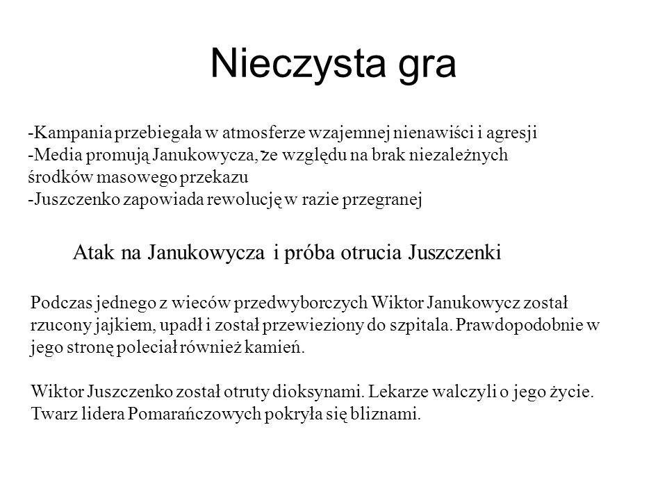 Nieczysta gra Atak na Janukowycza i próba otrucia Juszczenki