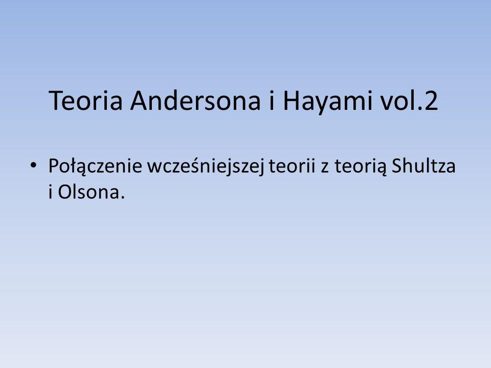Teoria Andersona i Hayami vol.2