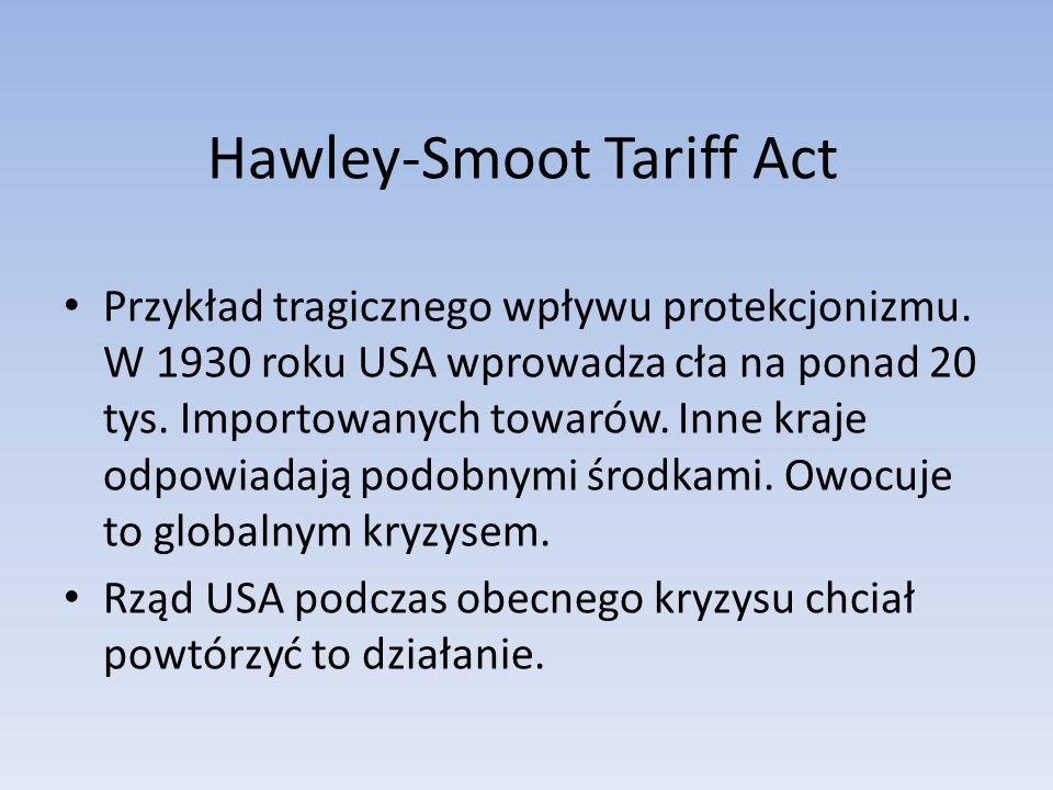 Hawley-Smoot Tariff Act
