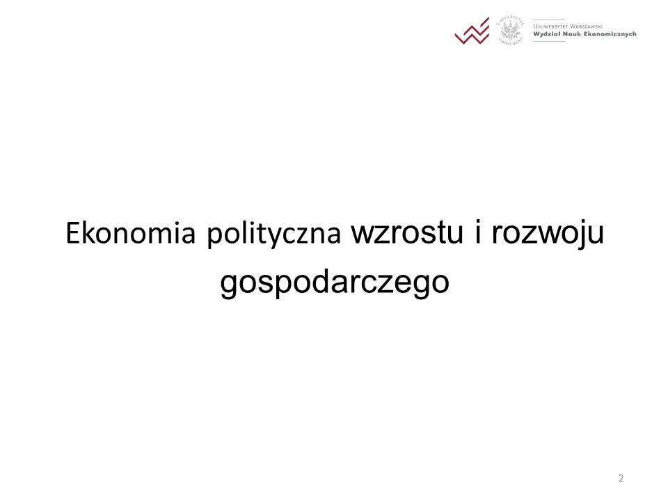 Ekonomia polityczna wzrostu i rozwoju gospodarczego