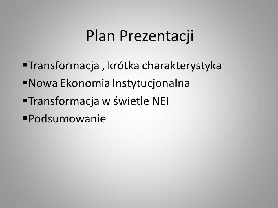 Plan Prezentacji Transformacja , krótka charakterystyka