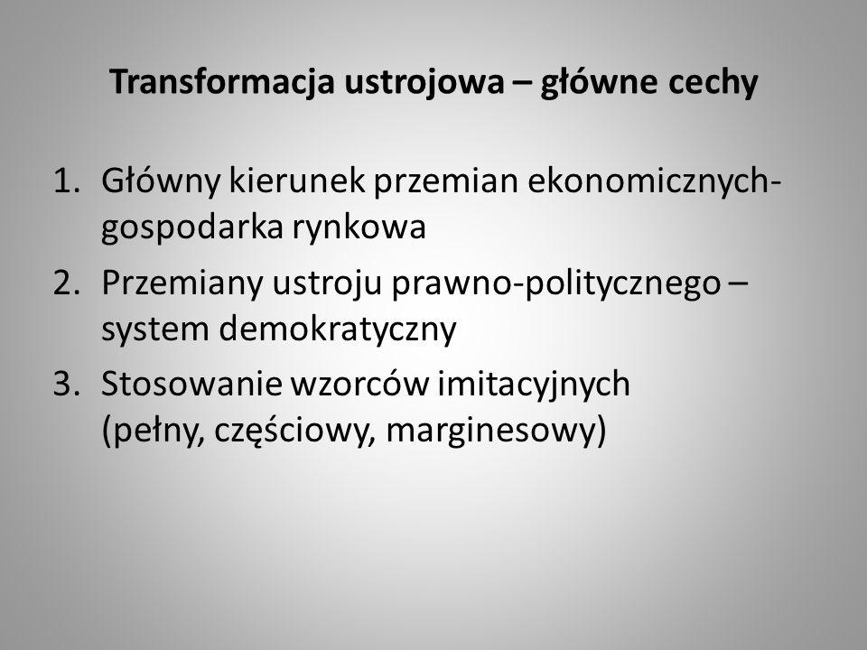 Transformacja ustrojowa – główne cechy
