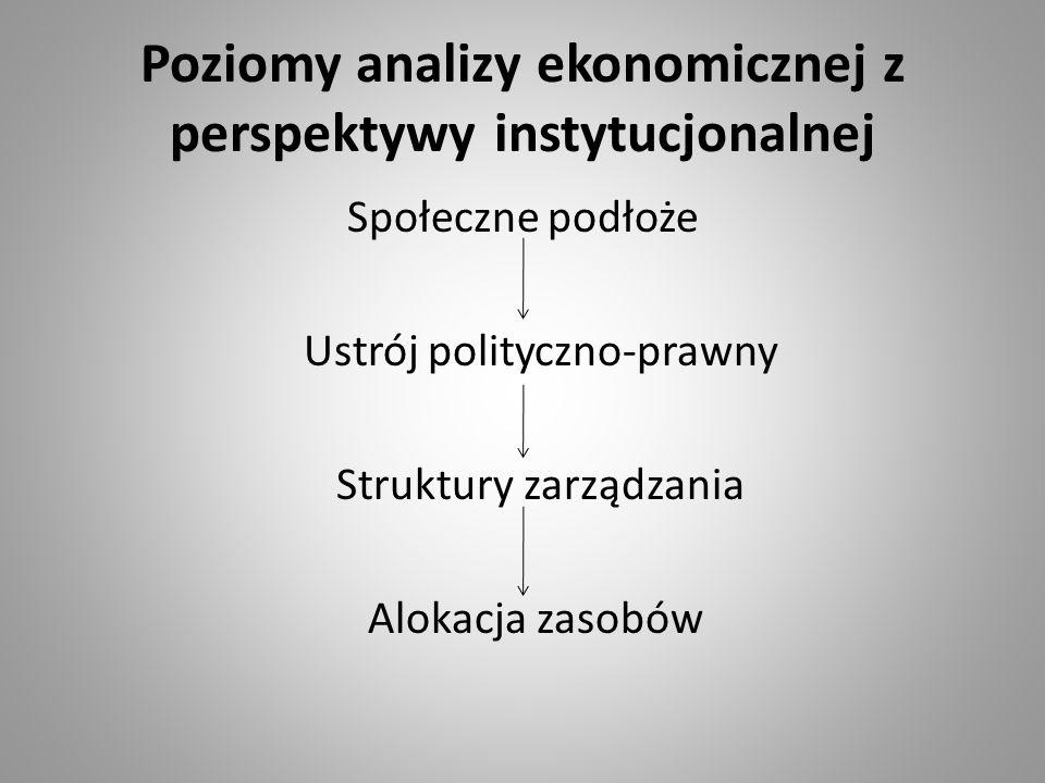 Poziomy analizy ekonomicznej z perspektywy instytucjonalnej