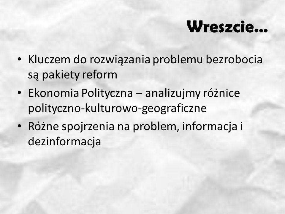 Wreszcie… Kluczem do rozwiązania problemu bezrobocia są pakiety reform