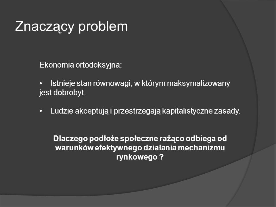 Znaczący problem Ekonomia ortodoksyjna: