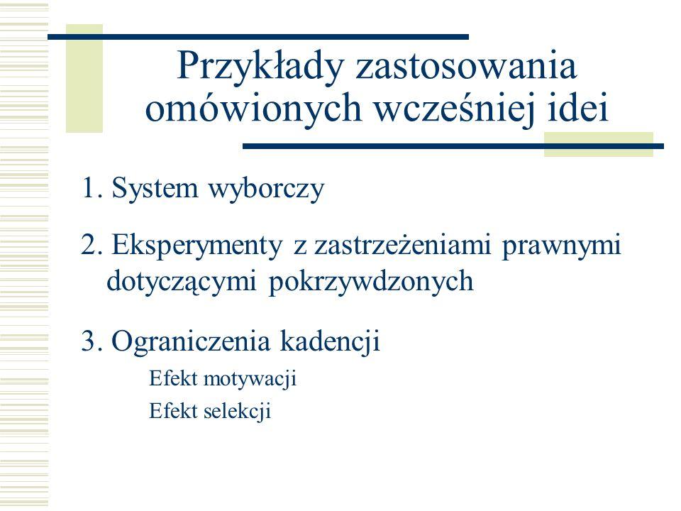 Przykłady zastosowania omówionych wcześniej idei
