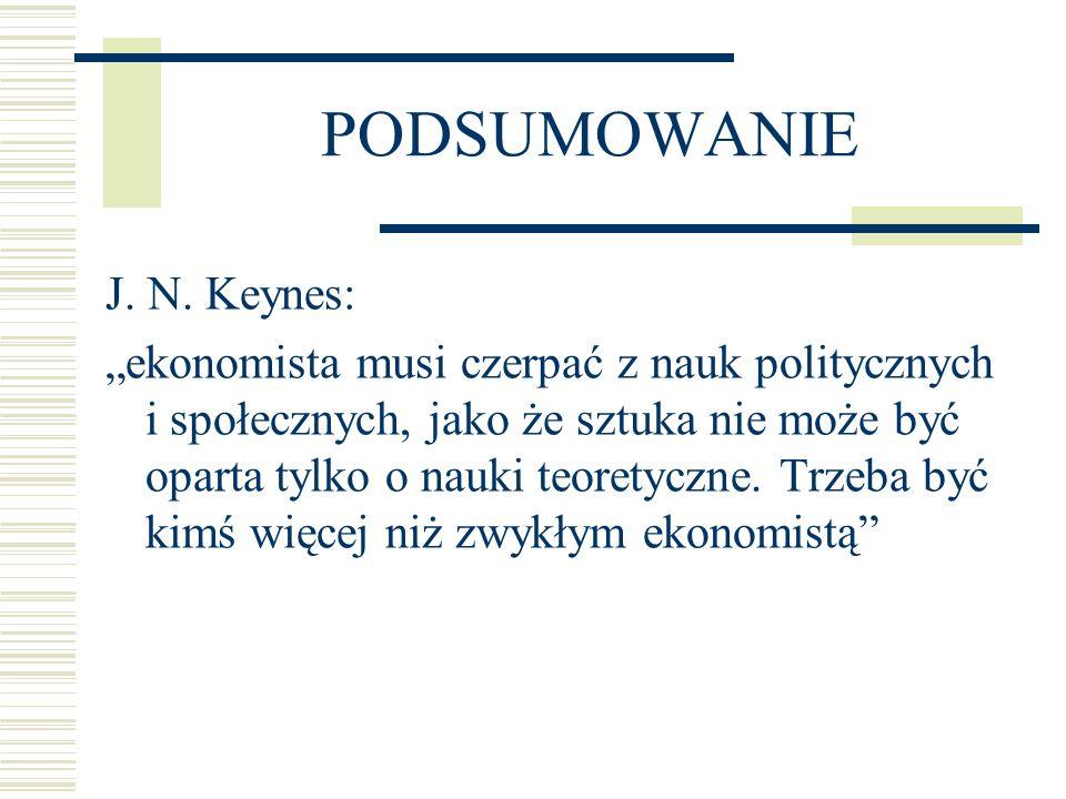 PODSUMOWANIE J. N. Keynes: