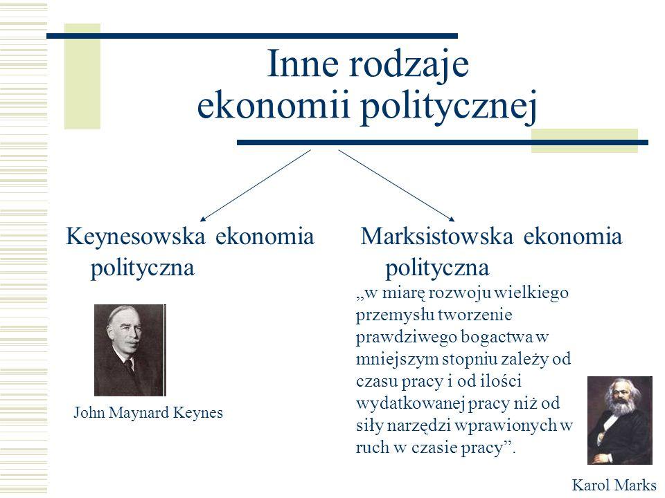 Inne rodzaje ekonomii politycznej