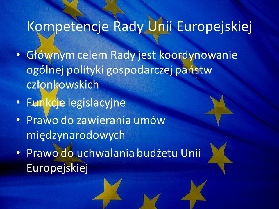 Kompetencje Rady Unii Europejskiej