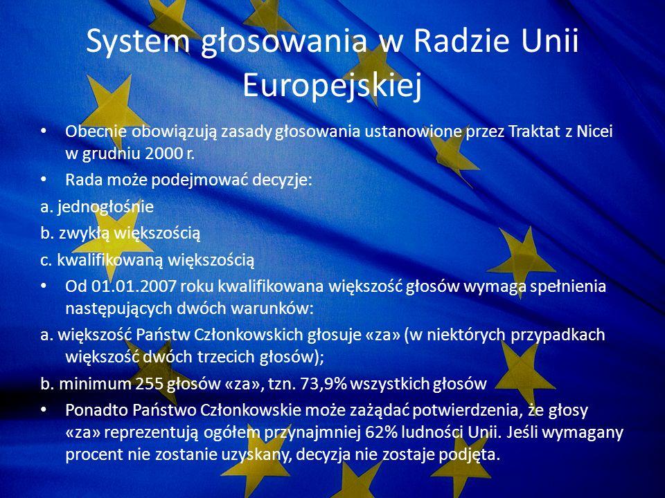 System głosowania w Radzie Unii Europejskiej