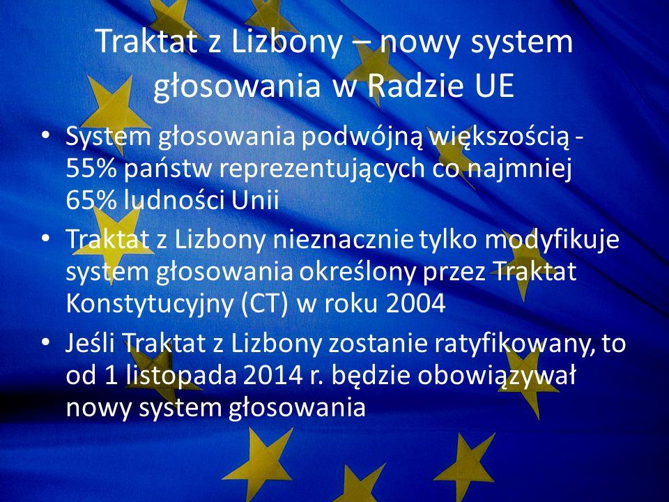 Traktat z Lizbony – nowy system głosowania w Radzie UE