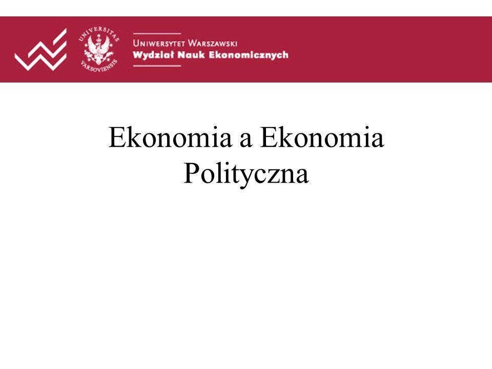 Ekonomia a Ekonomia Polityczna