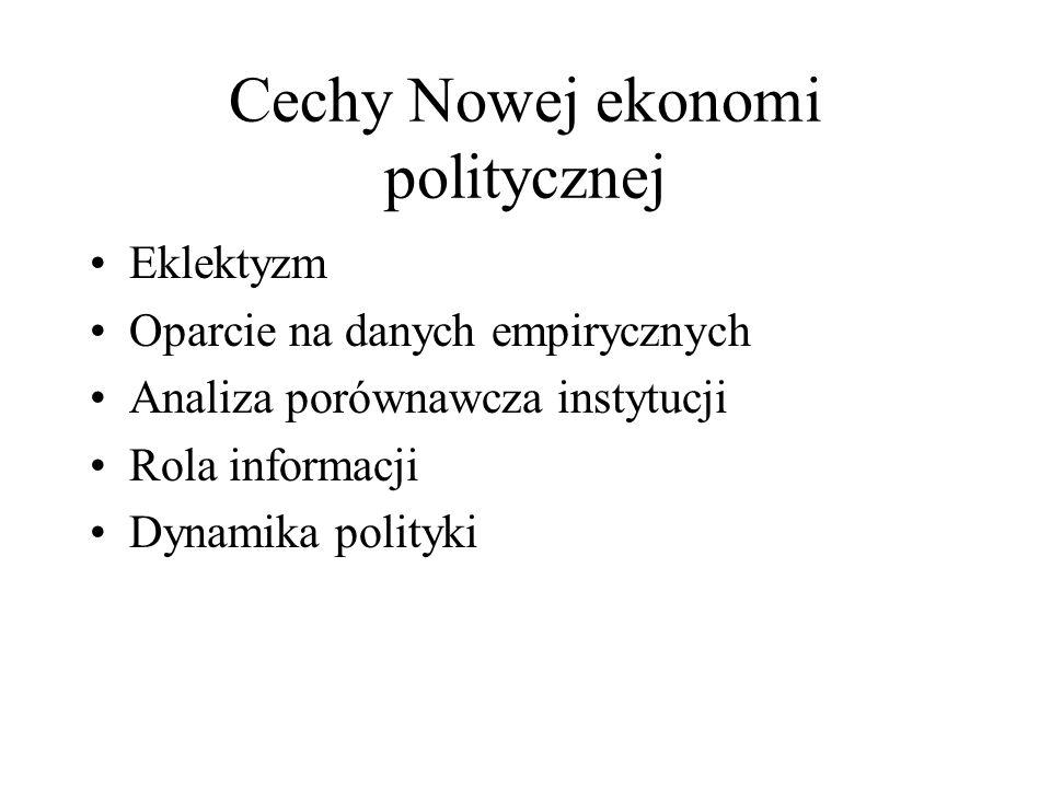 Cechy Nowej ekonomi politycznej
