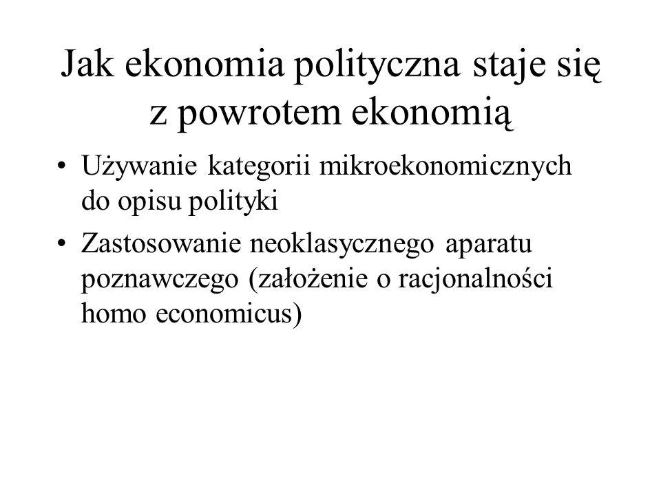 Jak ekonomia polityczna staje się z powrotem ekonomią