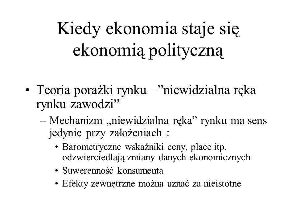 Kiedy ekonomia staje się ekonomią polityczną