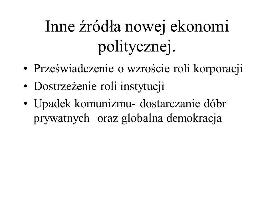 Inne źródła nowej ekonomi politycznej.
