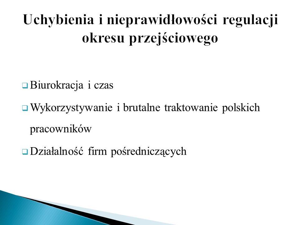 Uchybienia i nieprawidłowości regulacji okresu przejściowego