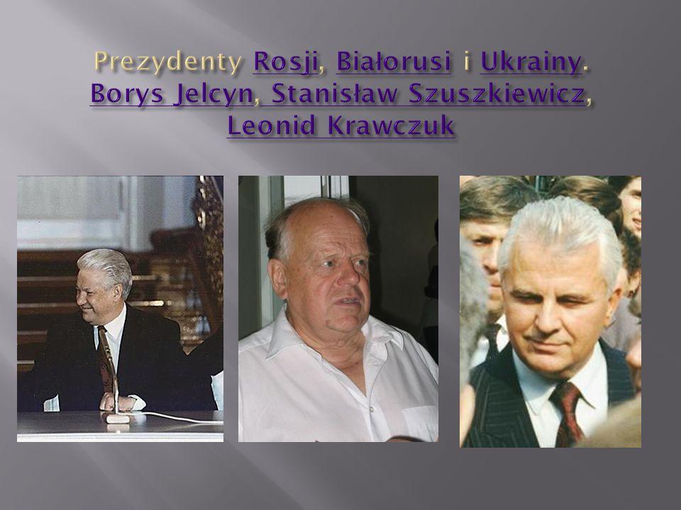 Prezydenty Rosji, Białorusi i Ukrainy