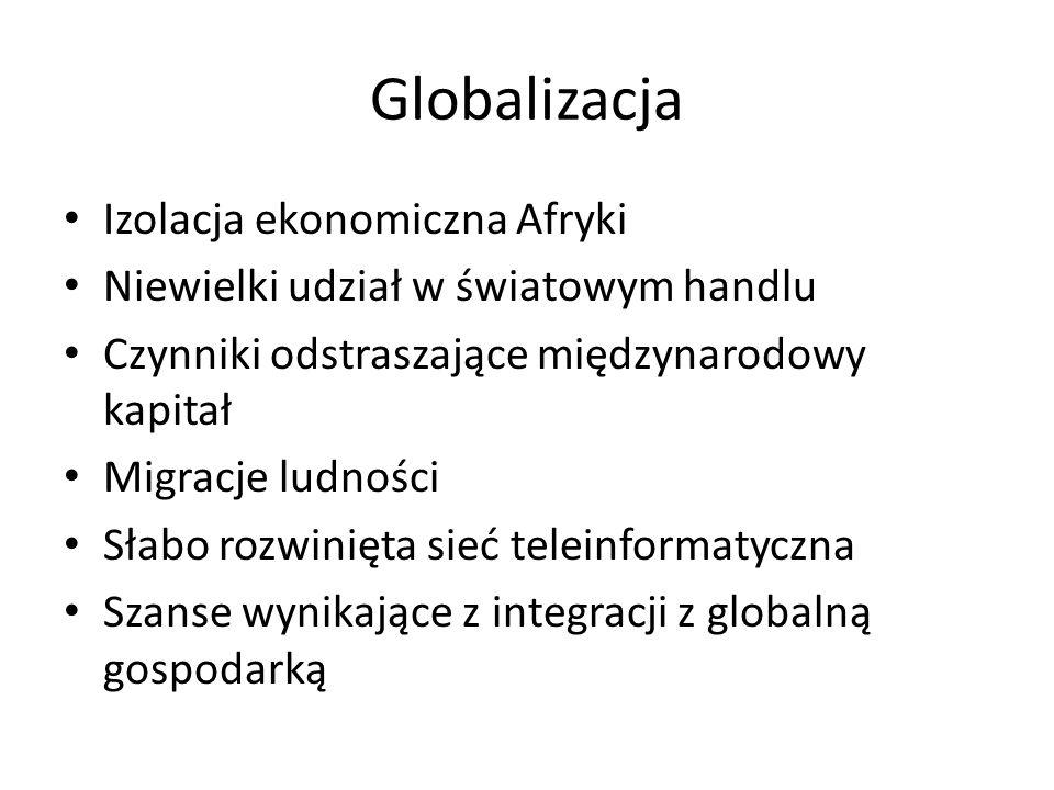 Globalizacja Izolacja ekonomiczna Afryki