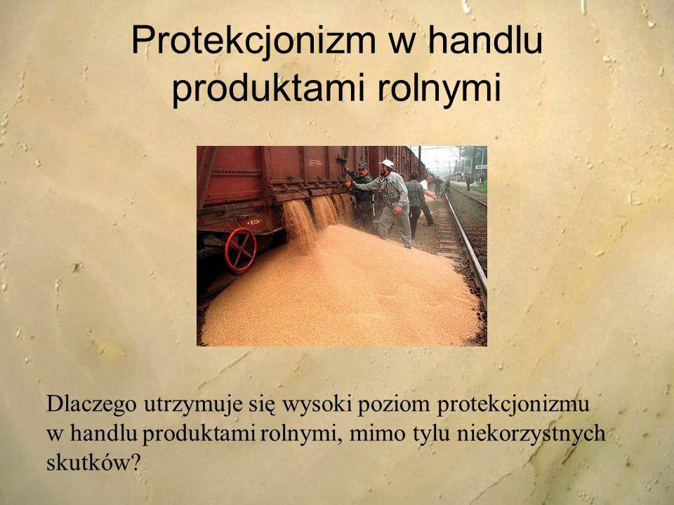 Protekcjonizm w handlu produktami rolnymi