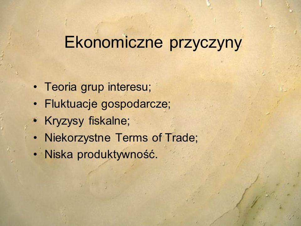 Ekonomiczne przyczyny