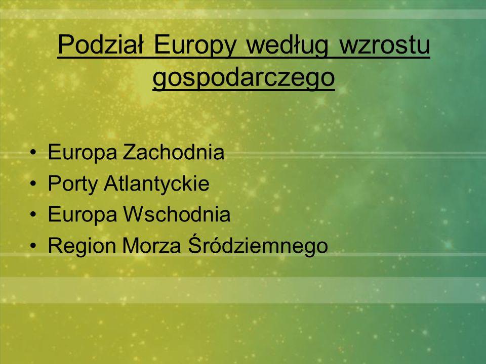 Podział Europy według wzrostu gospodarczego