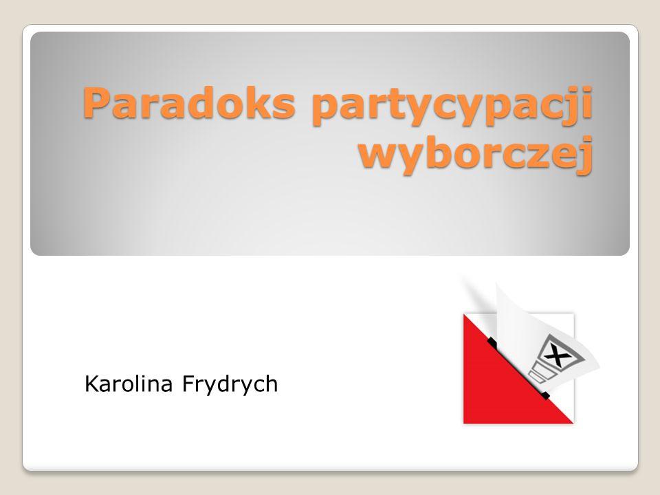 Paradoks partycypacji wyborczej