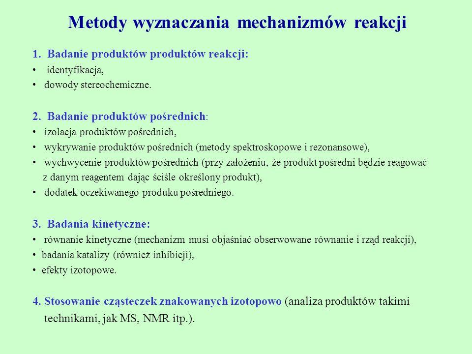 Metody wyznaczania mechanizmów reakcji