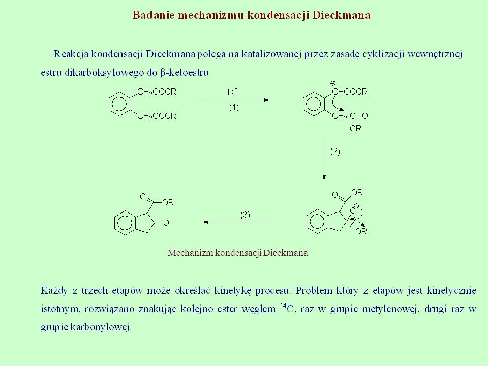 Mechanizm kondensacji Dieckmana