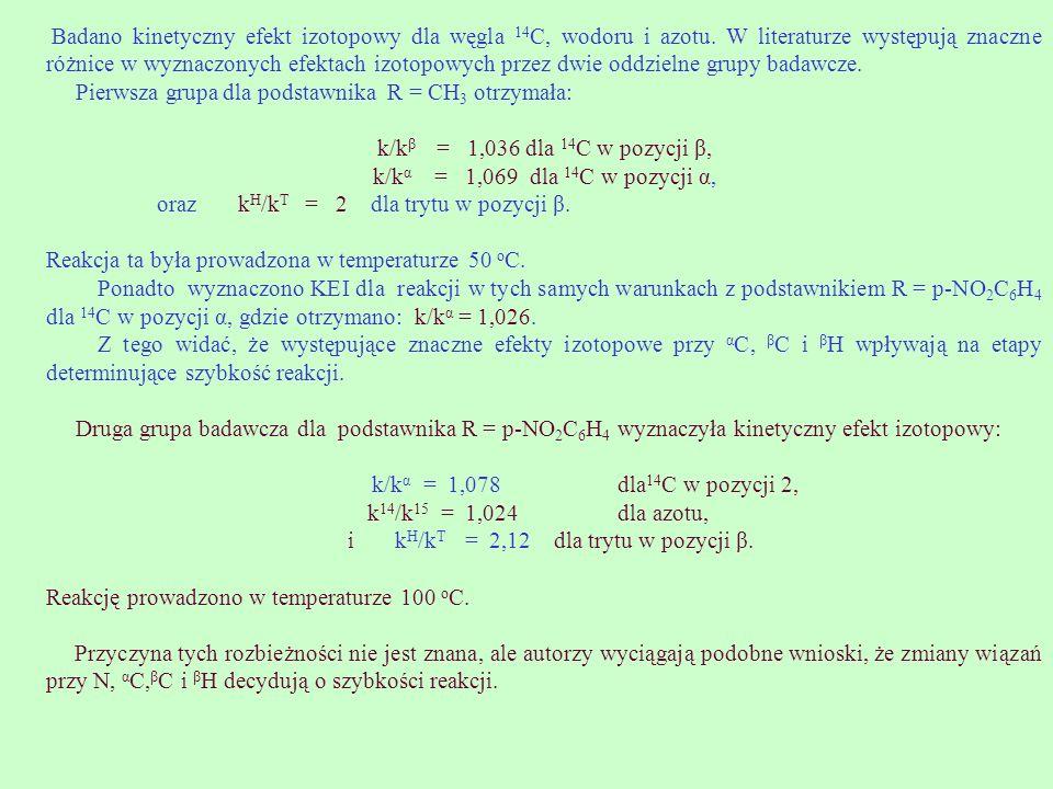 i kH/kT = 2,12 dla trytu w pozycji β.