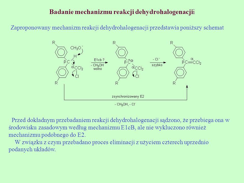 Badanie mechanizmu reakcji dehydrohalogenacjii