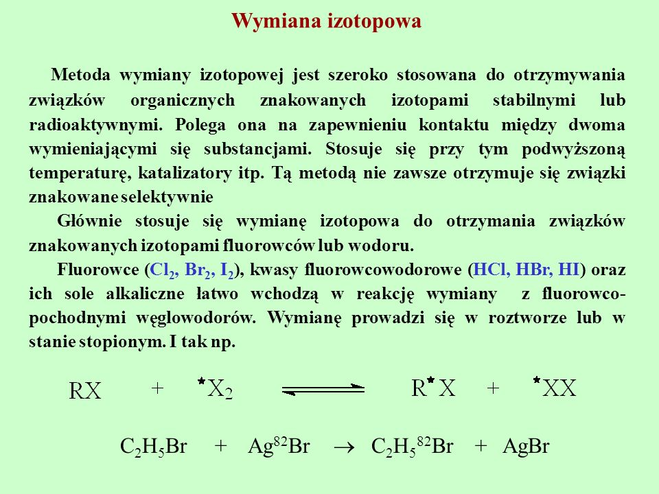 Wymiana izotopowa