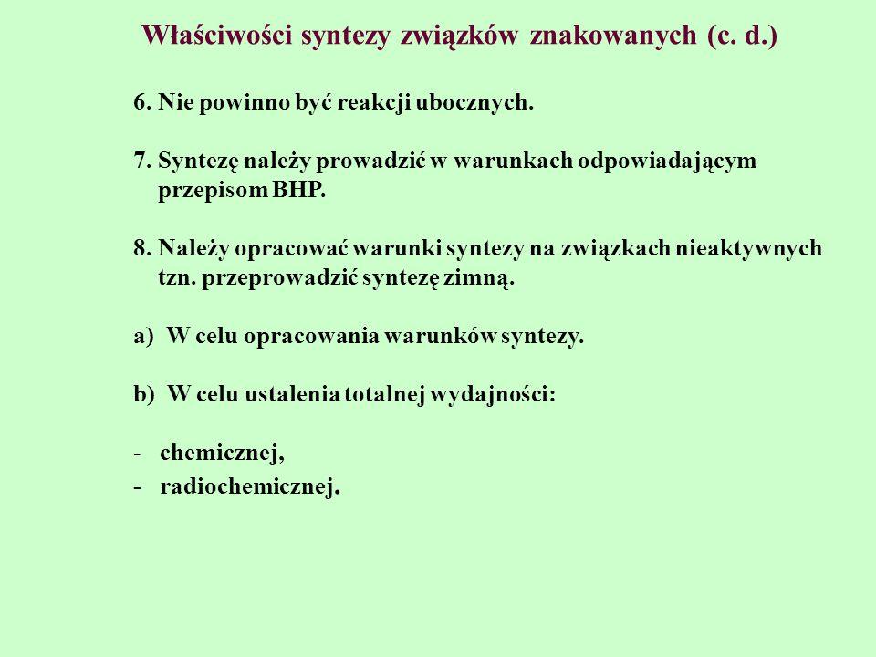 Właściwości syntezy związków znakowanych (c. d.)