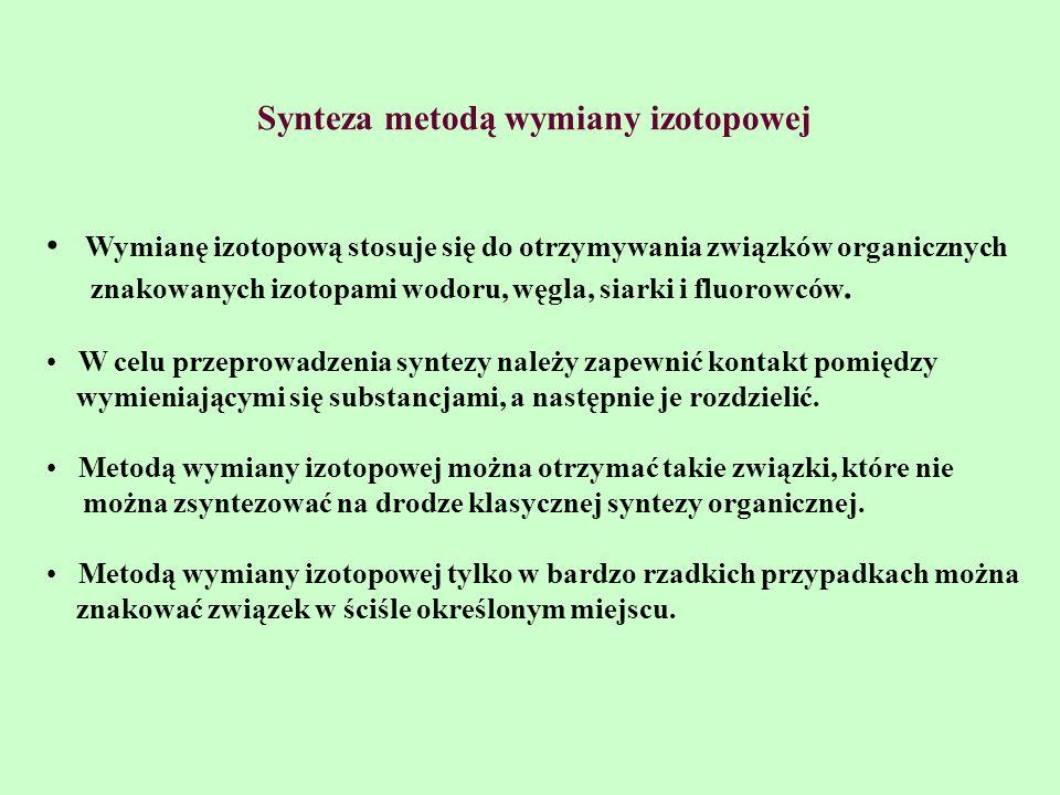 Synteza metodą wymiany izotopowej