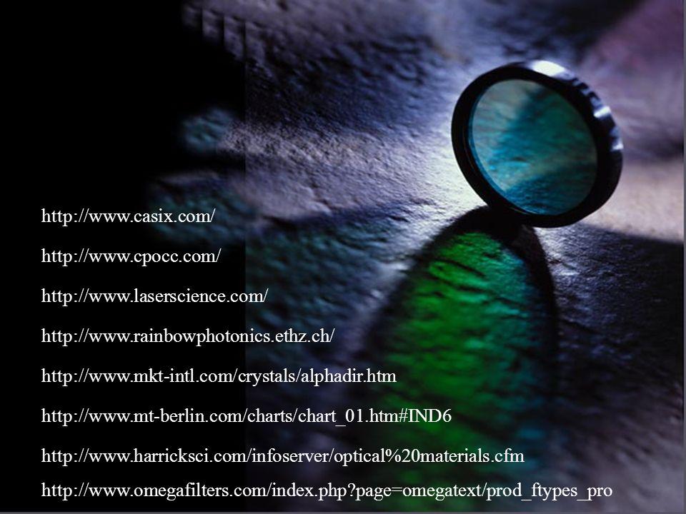 http://www.casix.com/http://www.cpocc.com/ http://www.laserscience.com/ http://www.rainbowphotonics.ethz.ch/