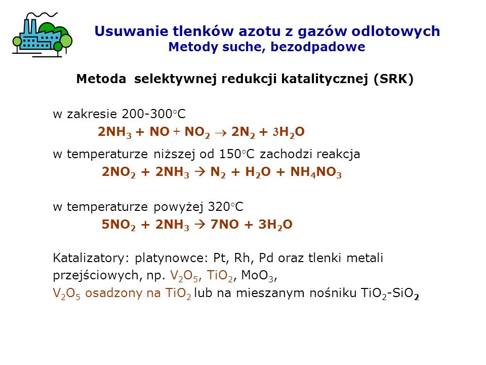 Usuwanie tlenków azotu z gazów odlotowych