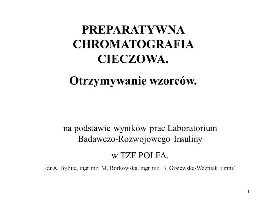 PREPARATYWNA CHROMATOGRAFIA CIECZOWA.