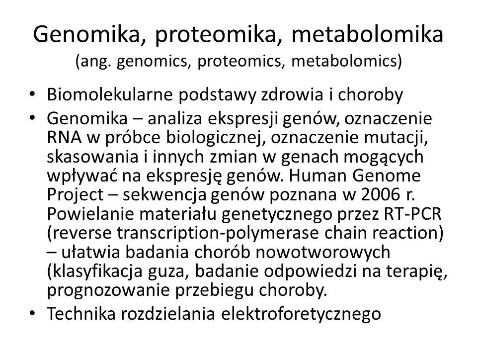 Genomika, proteomika, metabolomika (ang