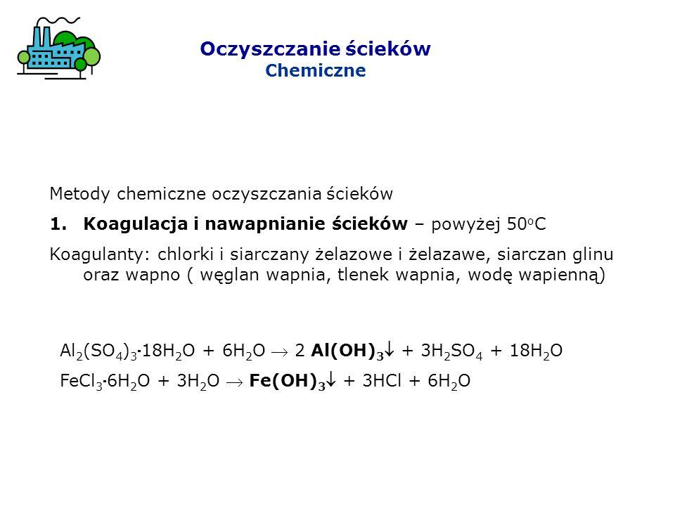 Oczyszczanie ścieków Chemiczne Metody chemiczne oczyszczania ścieków