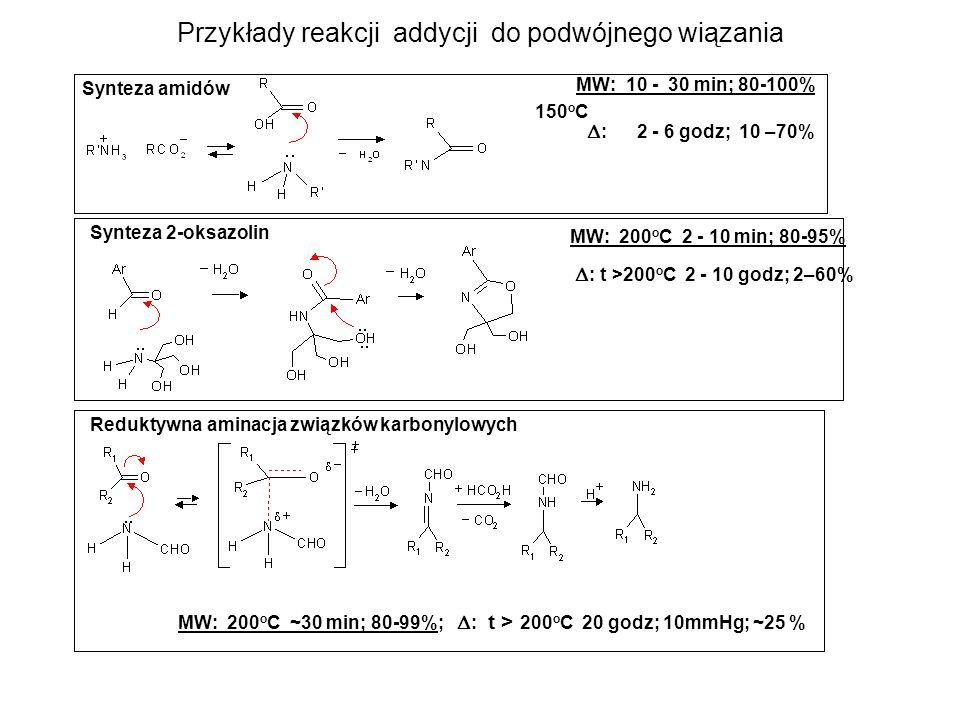 Przykłady reakcji addycji do podwójnego wiązania