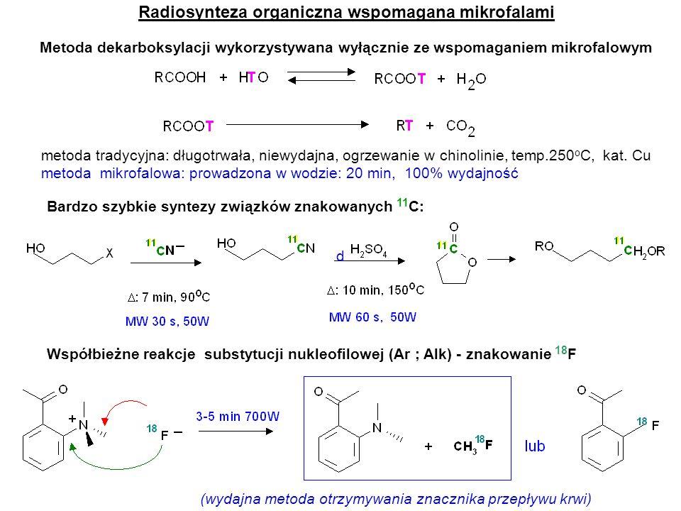 Radiosynteza organiczna wspomagana mikrofalami
