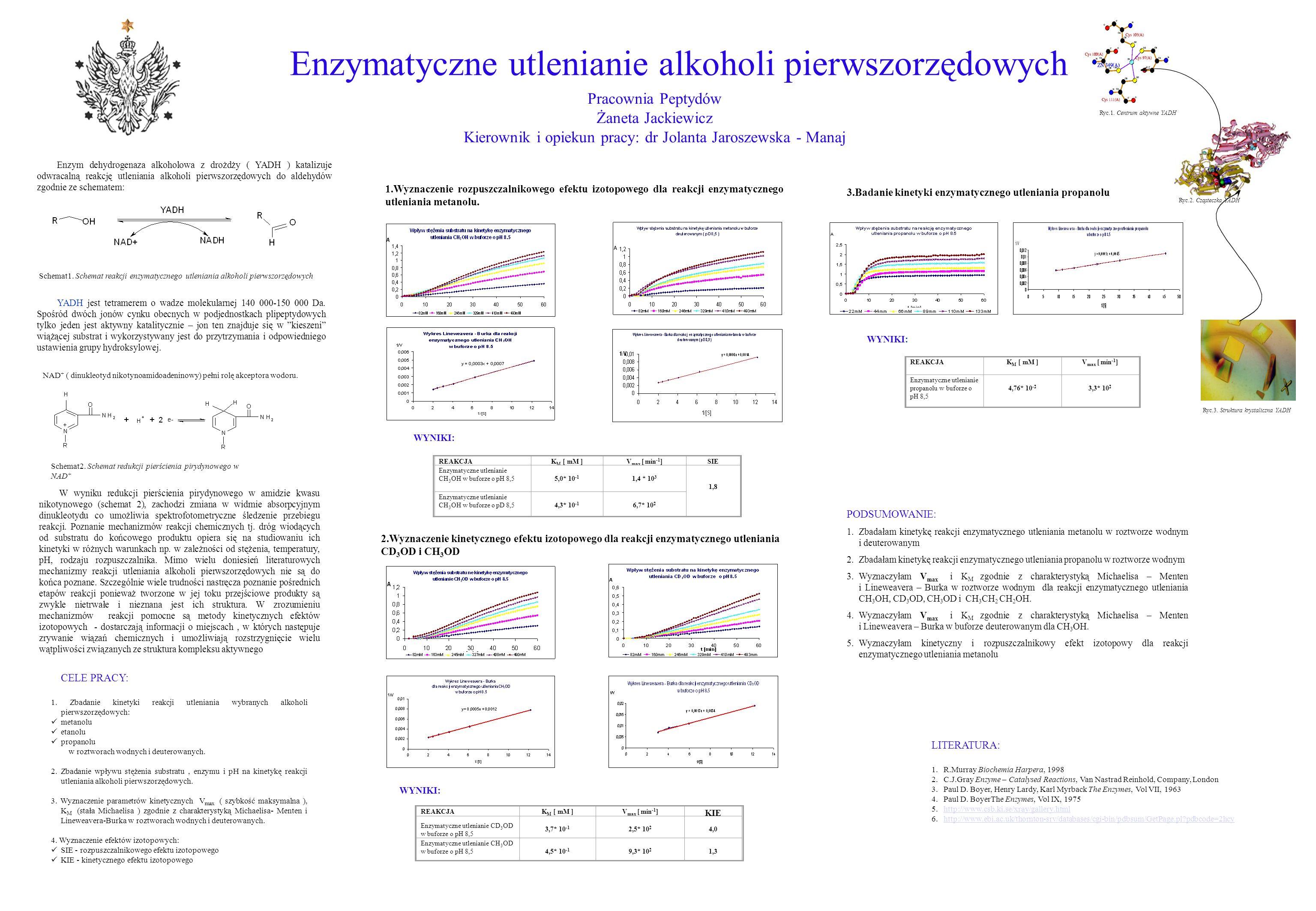 Enzymatyczne utlenianie alkoholi pierwszorzędowych
