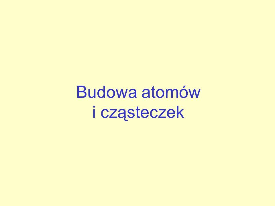 Budowa atomów i cząsteczek
