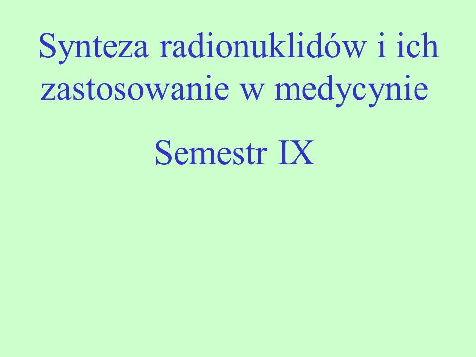 Synteza radionuklidów i ich zastosowanie w medycynie