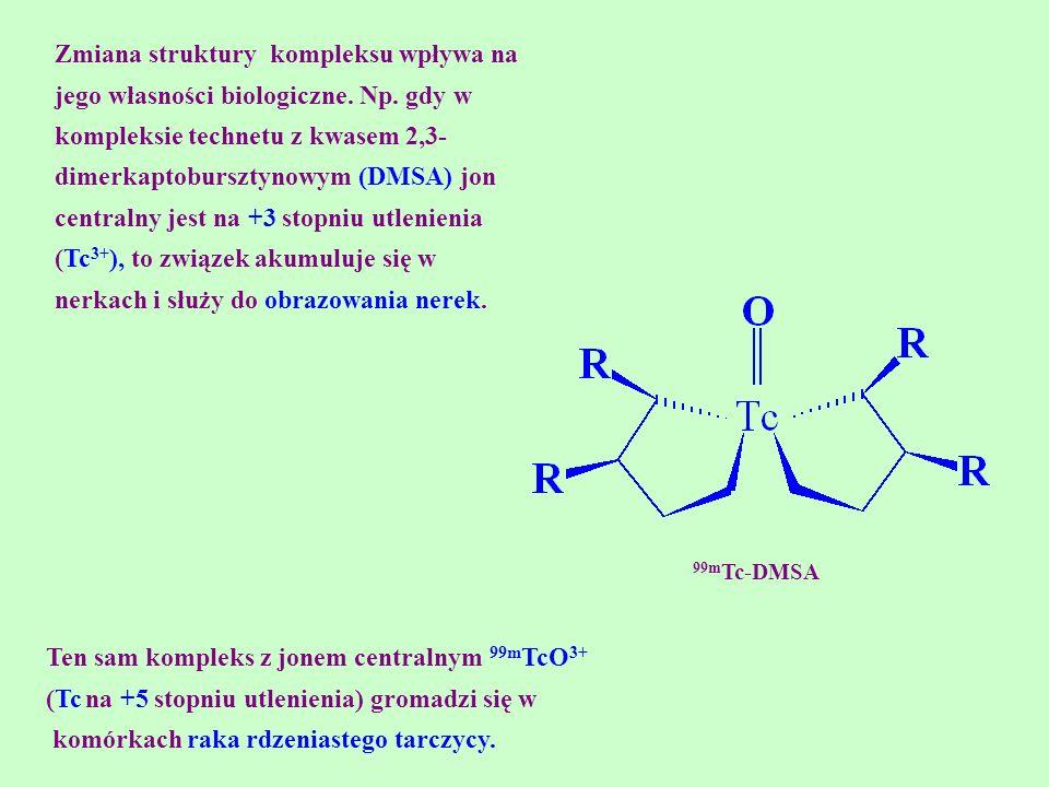 Ten sam kompleks z jonem centralnym 99mTcO3+