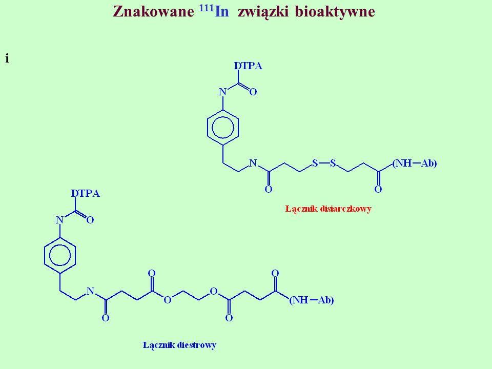 Znakowane 111In związki bioaktywne