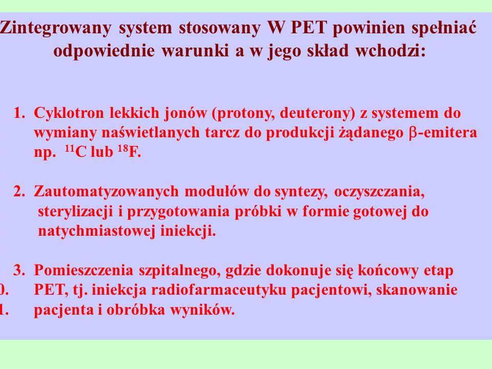 Zintegrowany system stosowany W PET powinien spełniać odpowiednie warunki a w jego skład wchodzi: